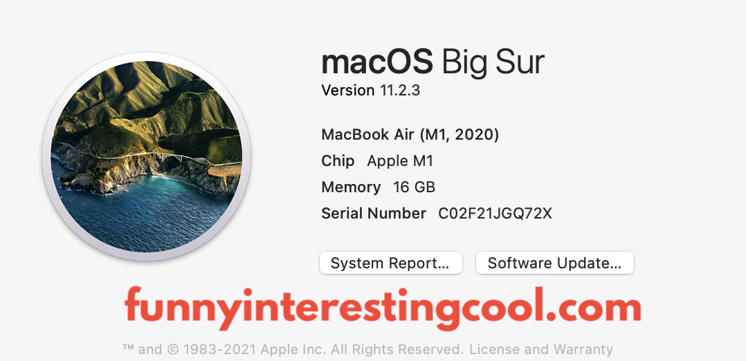 Macbook Air Processor Speed M1 About This Mac