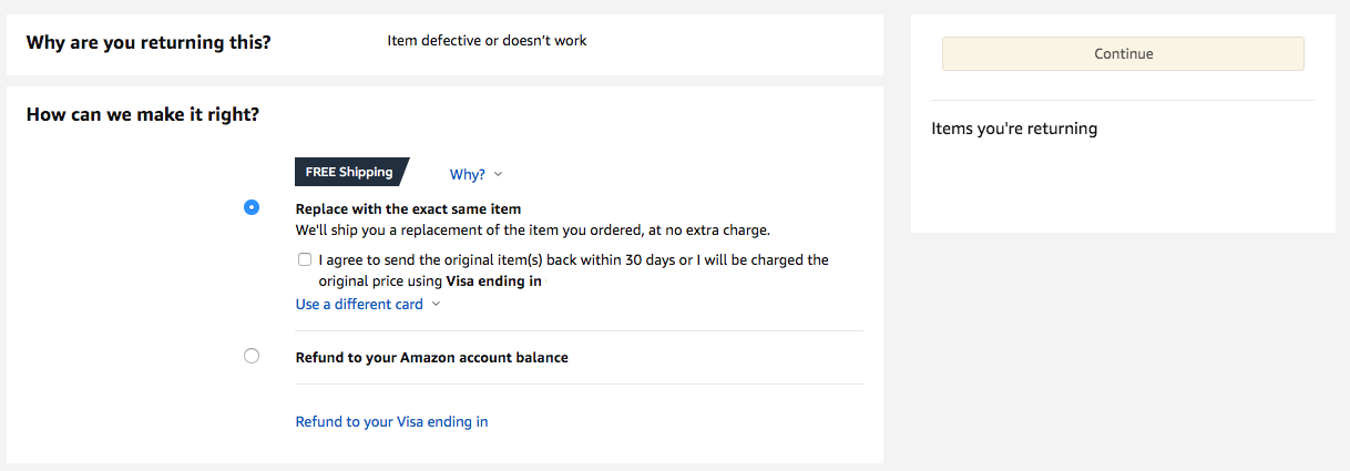 amazon-replace-with-exact-same-item-refund-amazon-balance.png
